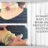 Sparkly wraparound boho bracelet/choker/anklet finished with wooden button, green